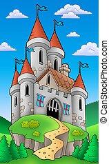 Castillo medieval en la colina