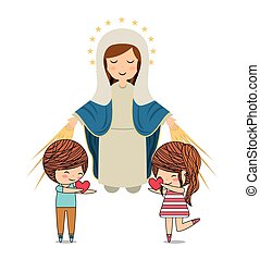 católico, diseño, amor