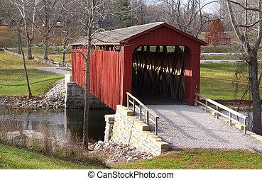 Catarata cubierta puente