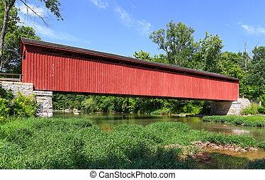 Cataratas cubiertas de puente