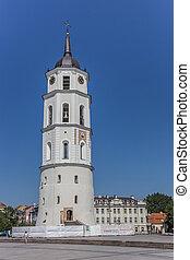 catedral, campanario, vilnius