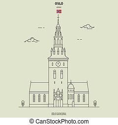 Catedral de Oslo, Noruega. icono de marca