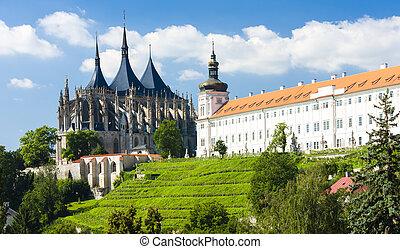 Catedral de St. Barbara y Jesuita College, Kutna hora, czech Republic