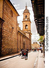 Catedral en Bogota, Colombia. Candelaria