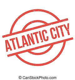 caucho, ciudad, atlántico, estampilla