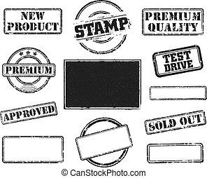 caucho, conjunto, sellos
