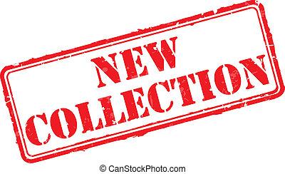 caucho, nuevo, colección, estampilla
