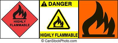 caution/warning, señal