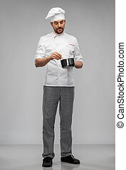 cazo, cocina, chef, toque, macho, alimento