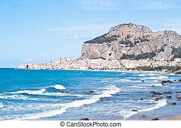 cefalu, sicilia, playa