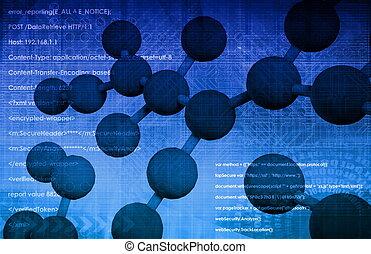 Celda de ADN molecular
