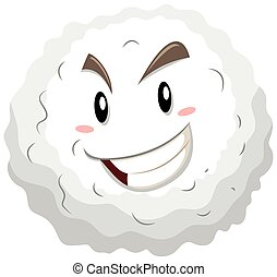 Celda de sangre blanca con cara feliz