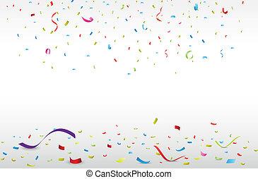 Celebración con confeti colorido