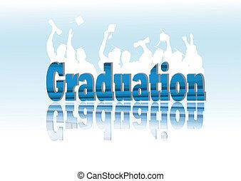 Celebración de graduación en silueta