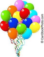 Celebración o globos de fiesta de cumpleaños