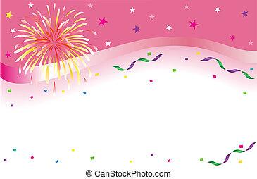 Celebración y bandera del partido
