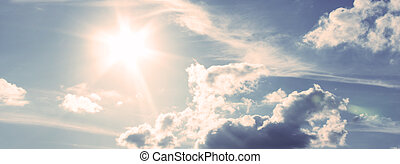 celeste, soleado, durante, día, sunlight.