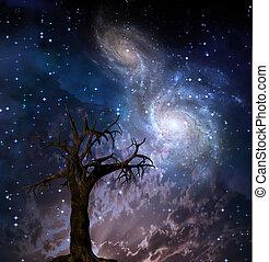 celestial, árbol