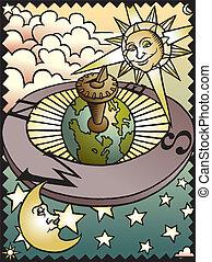 celestial, sundial