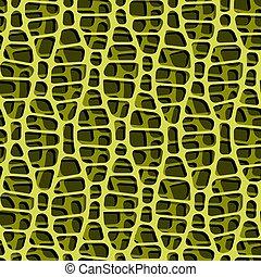 cells., planta, verde, seamless, patrón
