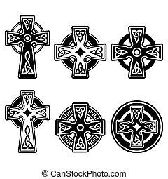 celta, irlandés, escocés, cruz