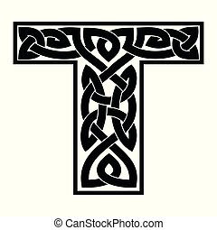 celta, ornament., carta