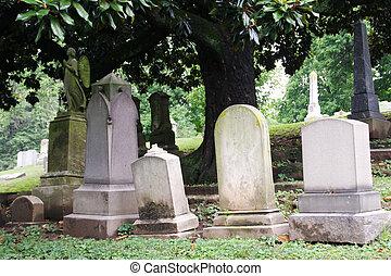cemetary, lápidas