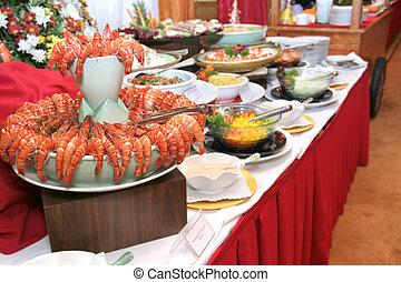 cena, buffet