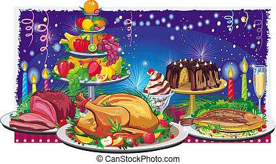 cena, feriado