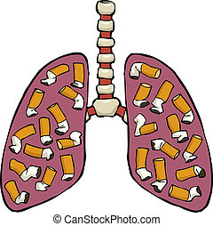 cenicero de pulmón humano