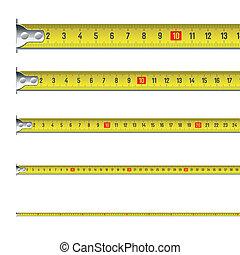 centímetros, cintamétrica