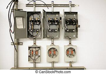 Centro de contadores eléctricos