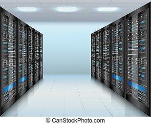 centro de datos, plano de fondo