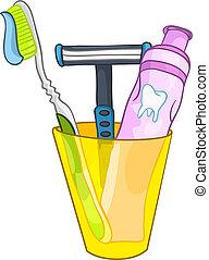 Cepillado de dientes de cartón