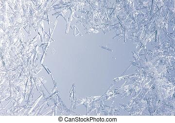 Cercano de cristales de hielo