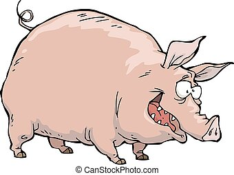 Cerdo alegre
