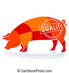 cerdo, calidad