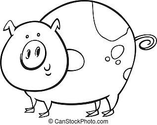 Cerdo manchado por color