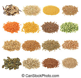 Cereal, grano y semillas