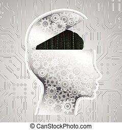 Cerebro de código matriz abstracto