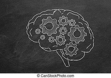 cerebro, engranajes