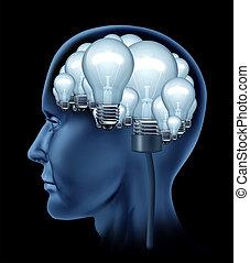 Cerebro humano creativo