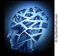 Cerebro humano dañado