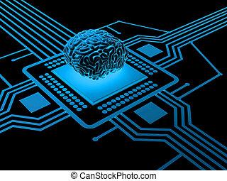 cerebro humano, procesador
