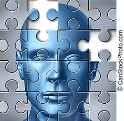 cerebro, médico, humano, investigación