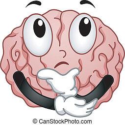 cerebro pensador, mascota