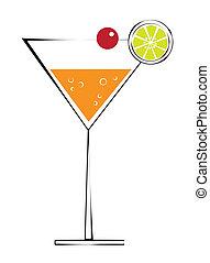 cereza, martini