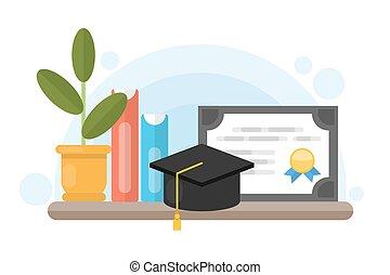 Certificado de diploma de graduación.