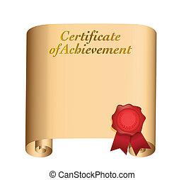 Certificado de diseño ilustrado de logros