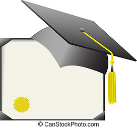 Certificado de graduación de cartón y de diplomas